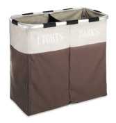 Whitmor 6205-2466-JAVA Easycare Double Hamper, Java