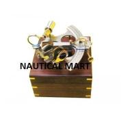 REPRODUCTION NAUTICAL 20cm ALUMINIUM SEXTANT WITH WOODEN BOX