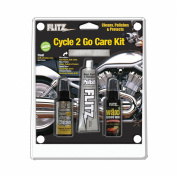 Flitz Cycle 2 Go Care Kit with Polish, Speed Waxx, Chrome Clean and Microfiber Cloth