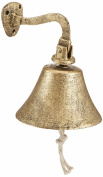 Handcrafted Nautical Decor Rustic Gold Vintage Cast Iron Decoration Hanging Ship's Bell 15cm - Metal Wall Décor