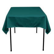 Square Polyester Tablecloth 110cm x 110cm (TEAL) By Runner Linens Factory