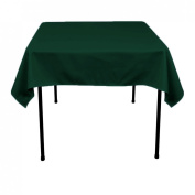 Square Polyester Tablecloth 110cm x 110cm (HUNTER GREEN) By Runner Linens Factory