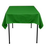 Square Polyester Tablecloth 110cm x 110cm (KELLY GREEN) By Runner Linens Factory