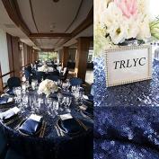 180cm Round Matt Navy Sequin Table Cloth Sequin Table Cloth, Cake Sequin Tablecloths, Sequin Linens for Wedding