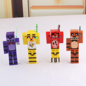 4pcs/set Five Nights At Freddy's 4 Fnaf Foxy Chica Bonnie Freddy Action Figures Kid Toy Christmas Gifts