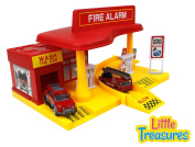Super Service Fire Station fire alarm emergency rush toy set