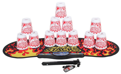 Speed Stacks Competitor - White Flame w/ Black Flame Mat