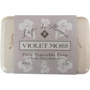 L'epi de Provence Triple Milled Violet Moss Shea Butter Vegetable Soaps from France 200g