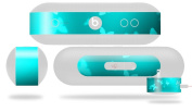 Bokeh Butterflies Neon Teal Decal Style Skin - fits Beats Pill Plus