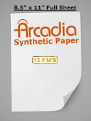 25 Pack of Letter Size Premium Arcadia Synthetic Paper for Any at Home Printer