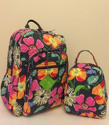 Vera Bradley Campus Backpack and Lunch Bunch in Jazzy Blooms