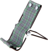 1 Gibson Holders SMS Fold & Go Smartphone Lounger, Green Plaid