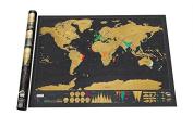 BOJIN Changeable Colour World Map - Black