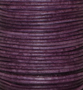 Natural Dye Violet Round Leather Cord 1.5mm x 10m BEST VALUE!