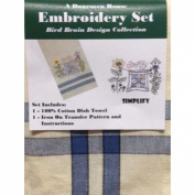 Dunroven House Simplify Bird Brain Design Collection Embroidery Set, 50cm by 70cm
