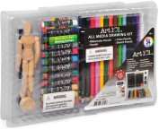 Art 101 All Media Drawing Kit - 54 Pieces