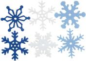 Creative Impressions 3.2cm Felt Snowflakes, Medium, 36 Per Package