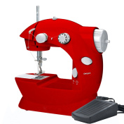 SmartCare SC-08 Mini Sewing Machine with Pedal Red Light and Compact