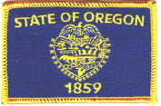 OREGON STATE FLAG/Iron On Embroidered Patch /Flag of Oregon, Symbol