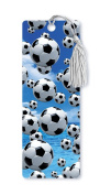 Dimension 9 3D Lenticular Bookmark with Tassel, Soccer Balls