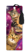 Dimension 9 3D Lenticular Bookmark with Tassel, Galaxy Tabby Cats