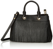 MILLY Essex Fringe Small Tote Convertible Top Handle Bag