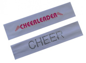 Funny Girl Designs Set of 2 CHEERLEADER Stretch Headband Gift Set for Girls Teens and Adults - Cheer Team Gifts