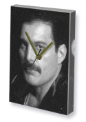 FREDDIE MERCURY - Canvas Clock (A5 - Signed by the Artist) #js001