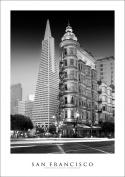 San Francisco Golden Gate | Two Towers on Columbus Street Art Print Poster