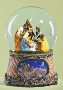 Christmas Snow Globe - Nativity Musical Snowglobe - Nativity Waterglobe - Three Kings - Holy Family Water Globe