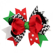 Susenstone®Christmas Baby Girl Ornaments Bowknot Hairpin Headdress