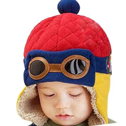 Cute Winter Toddler Baby Velvet Wool Hat Hooded Scarf Earflap Knit Cap