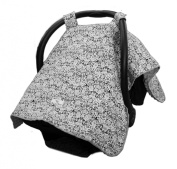 Carseat Canopy - Best Car Seat Canopy for Popular Baby Carseat Models. Covers All Popular Car Seats. Great Baby Shower or Christmas Gift. Breathable Soft Minky Fleece Fabric. Satisfaction Guaranteed.