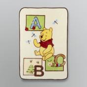 Disney Baby Winnie the Pooh ABC Plush Baby Blanket