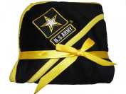 U.S. Army Baby Soft Fleece Blanket with Embroidered Logo - Black