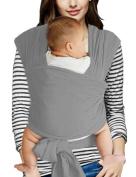 Vlokup Baby Sling Carrier Soft Infant Wrap Ideal Shower Gift Grey