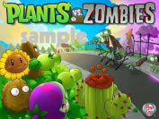 Plants VS Zombies Edible Image Cake Topper Frosting Sheet