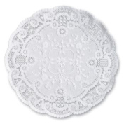 French Lace Paper 20cm Doilies, White