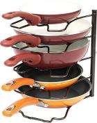 DecoBros Kitchen Counter and Cabinet Pan Organiser Shelf Rack, Bronze