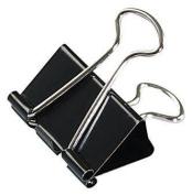 Universal Medium Binder Clips, Steel Wire, 1.6cm Cap., 2.5cm - 0.6cm Wide-Black/Silver, 12 ct, 2 pk