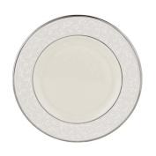 Lenox Pearl Innocence Platinum Banded Ivory China Salad Plate