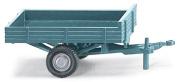 HO Scale Allgaier Single-Axle Low-Side Trailer - Assembled -- Light Blue