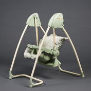 2 in 1 Highchair & electrical Baby Swing green Homey - BambinoWorld