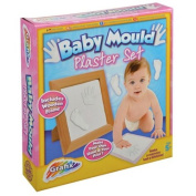 BABY MOULD PLASTER HAND FOOT PRINT PHOTO PICTURE FRAME WOODEN GIFT SET MEMORY