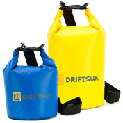 **Cyber Monday Deals** Driftsun 10L Waterproof Heavy Duty Dry Bag Set with Shoulder Strap Dry Bag Sack, Waterproof Floating Dry Gear Bags for Boating, Kayaking, Fishing, Rafting, Swimming, Camping, Canoeing and Snowboarding with. 5L Bag