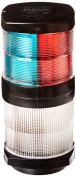 HELLA 909,710m2984 Series' 12V DC 2 NM Tri-Colour Light with White All-Round Anchor Light and Black Housing