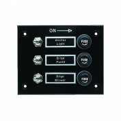 Seachoice 12511 3 Gang Fused Switch Panel