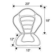 Leader Accessories Black/grey Deluxe Kayak Seat