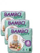 Pack Of 3 Bambo Maxi Nappies (Size 4) 90 Nappies