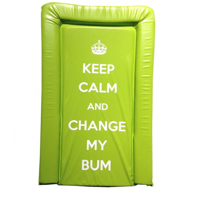 It's A Baby Keep Calm and Change My Bum Changing Mat (Lime)